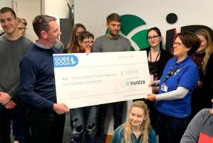 paul presenting cheque to gulcem