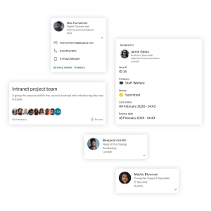 Social intranet - card composite