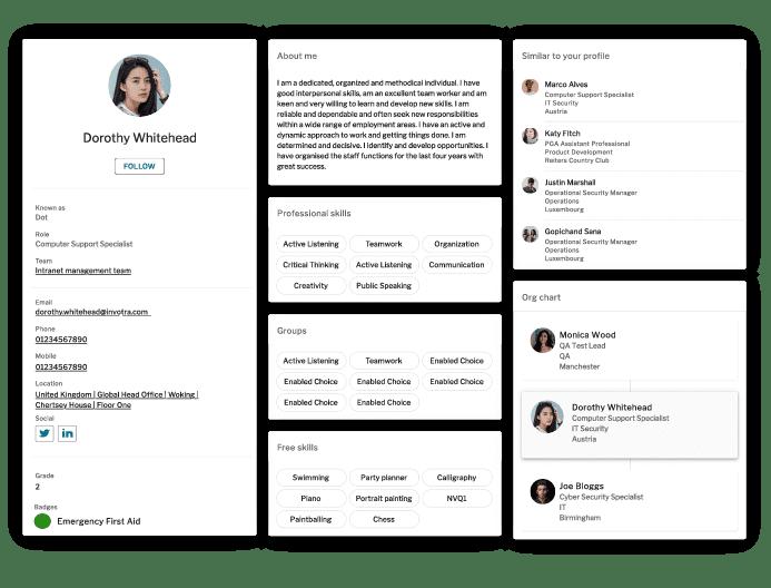 Invotra 5.0 Profile screen