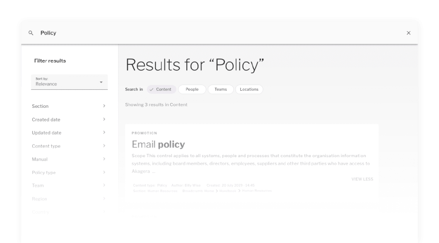 Search screen results for policy