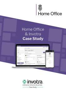 Home Office and Invotra Case Study front cover