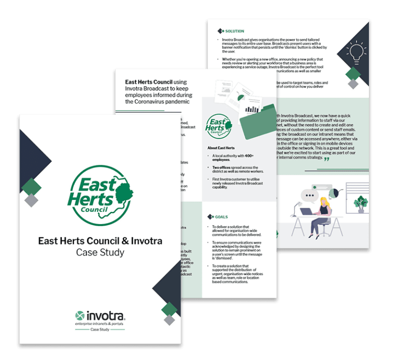 East Herts Council and Invotra Case Study pages