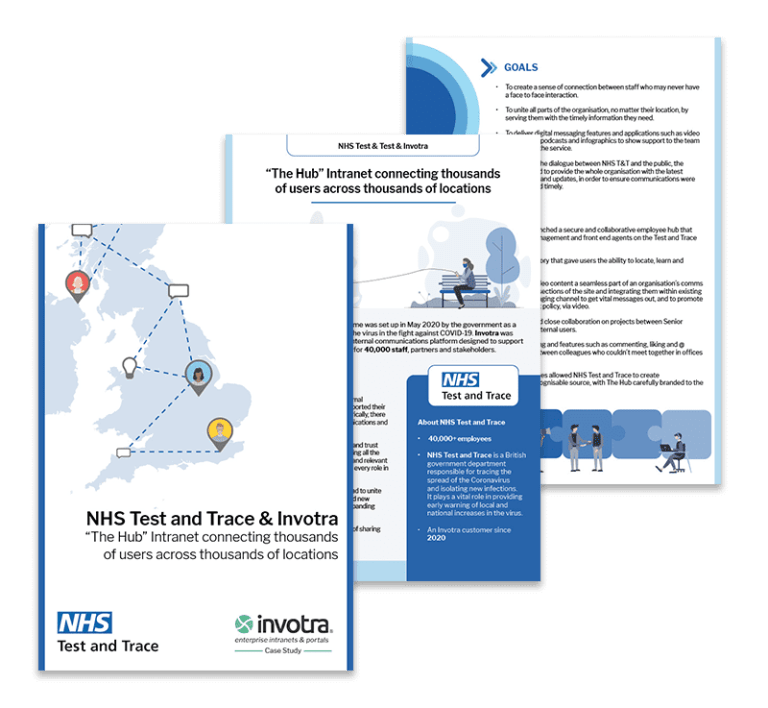 NHS T&T Connecting users Case study pages