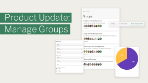 Product update - Manage Groups with groups landing page, search filter and metrics shown