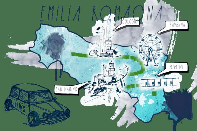 illustrazione emilia romagna