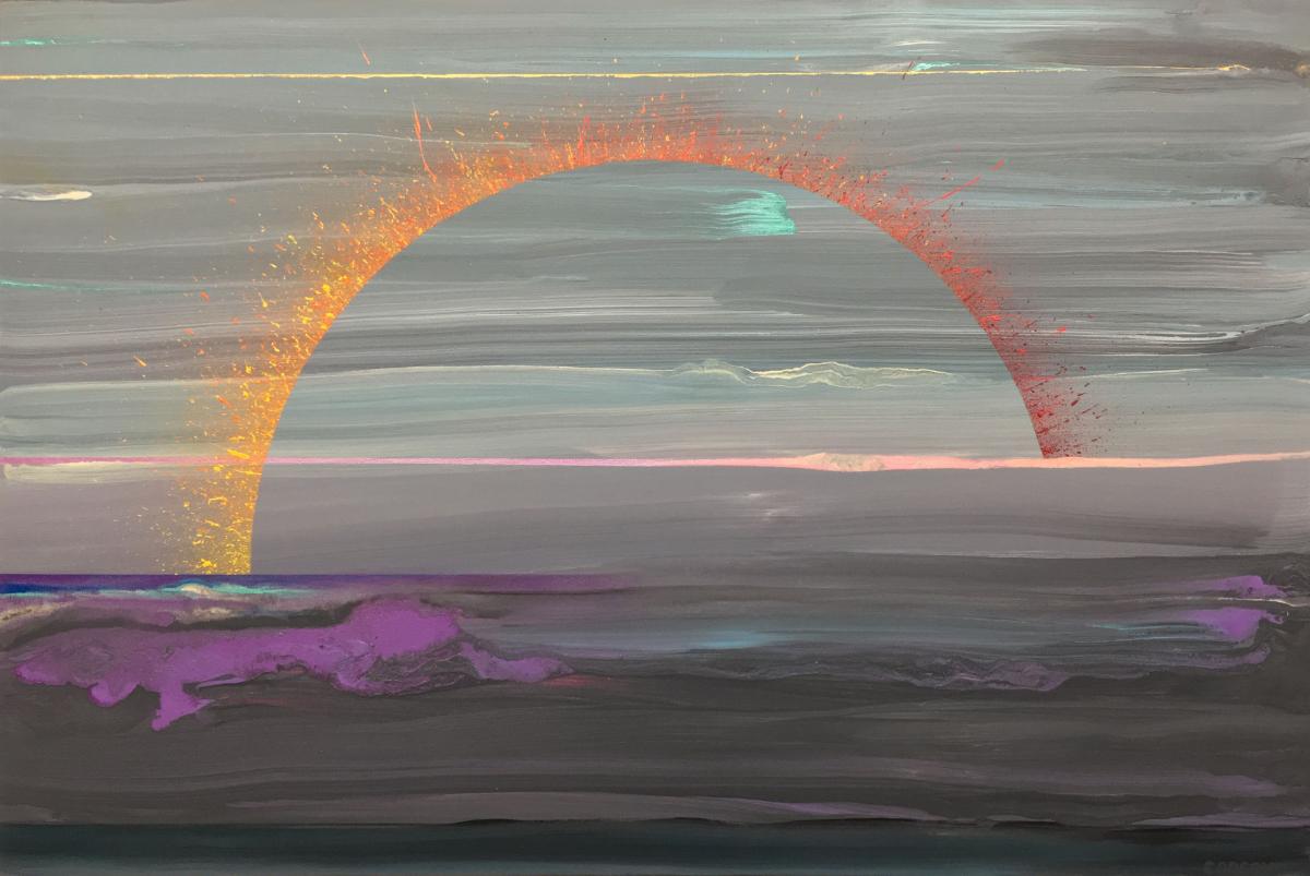 Etic Landscape #1, 24x36, Mixed Media on Canvas