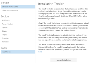 Install Toolkit for deploy Office 365