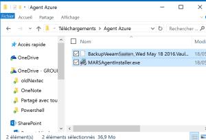 Download identifiant for Backup File Azure