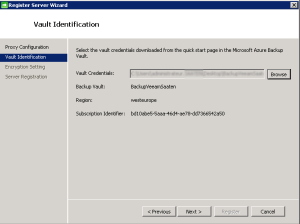 configure vault identification
