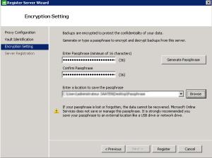 Backup Enter passphrase