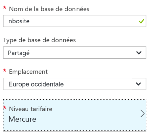 Select tarif