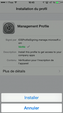 Install Management profile