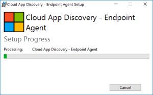 Install agent Cloud APP Discovery