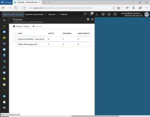 Manage Licence on Azure Portal