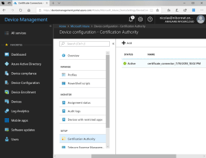 Certificate authority appear