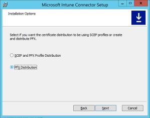 Select pfx distribution certificate