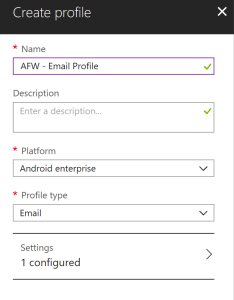 Deploy Email profile