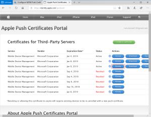 import certificate Renew IOS Certificate