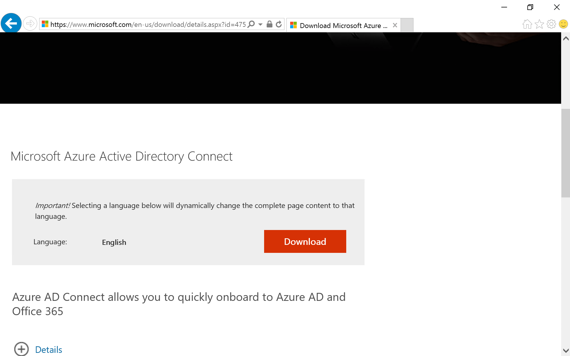 Download Azure AD Connect
