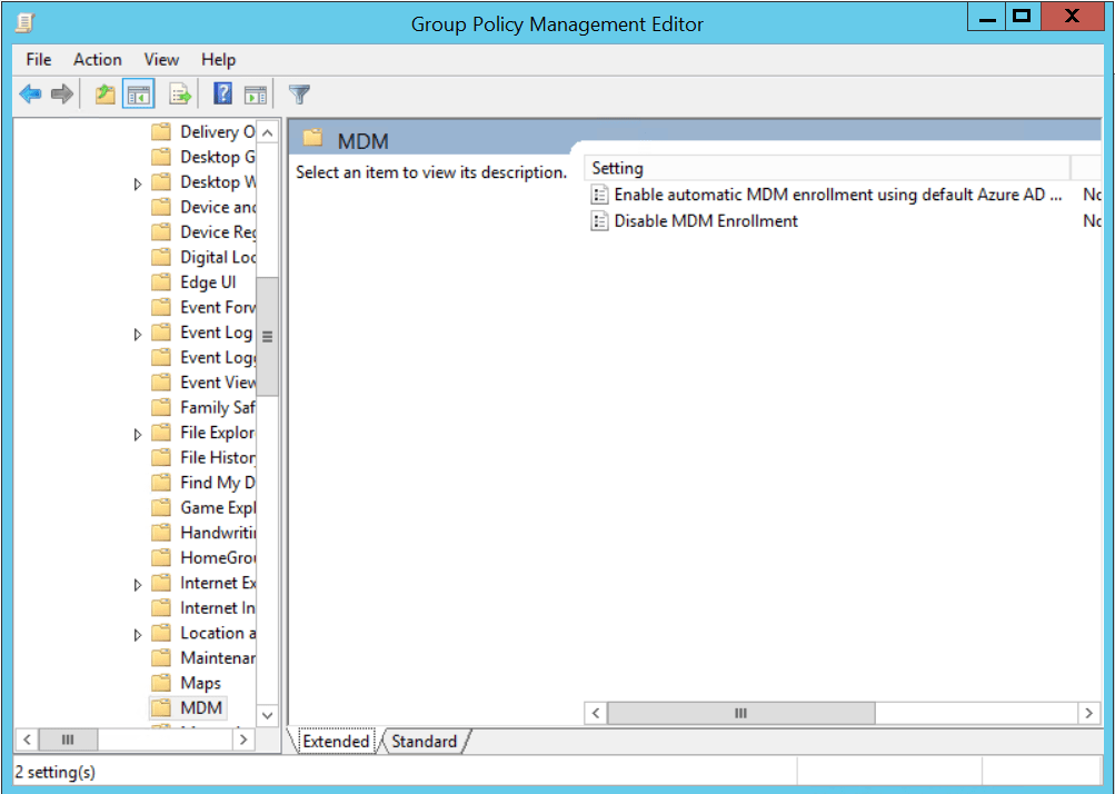 Activate MDM Enrollment with Group Policy.