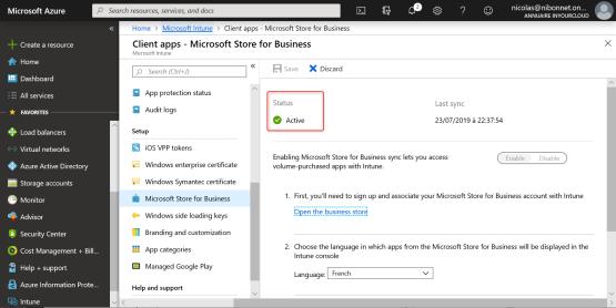 Windows Store has been configured