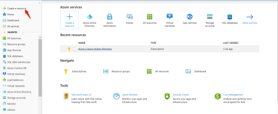 Azure identity Protection licence create ressource