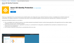 Create Identity Protection