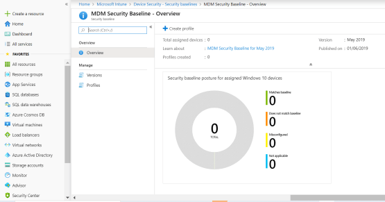 Create policy for MDM