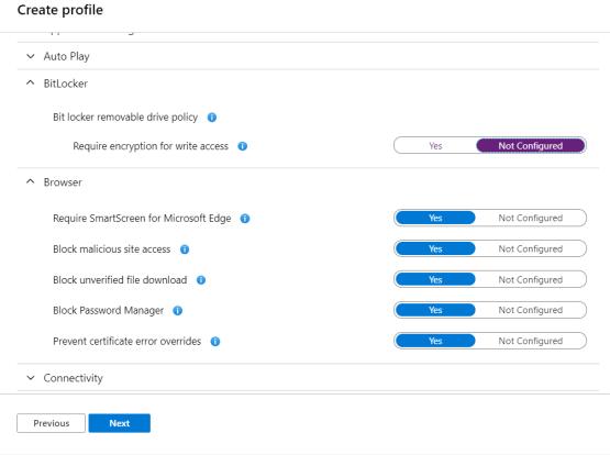 Configure Settings as you want