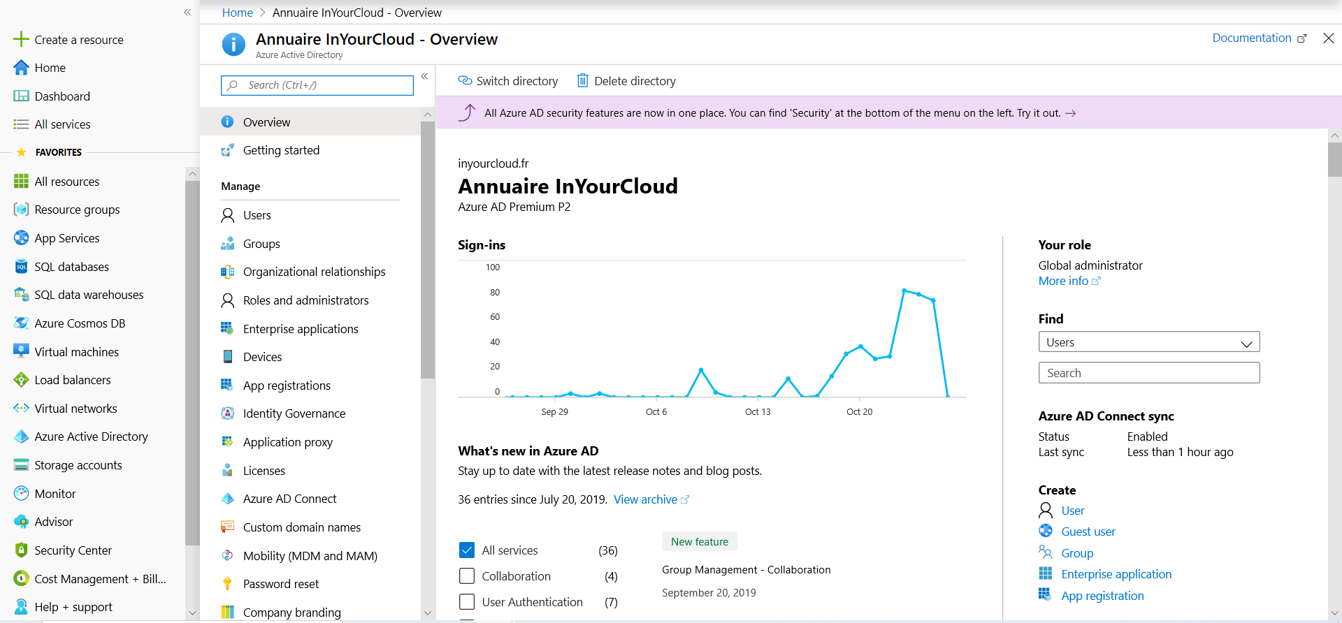 Access to Azure AD portal