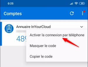 Enable connexion by phone
