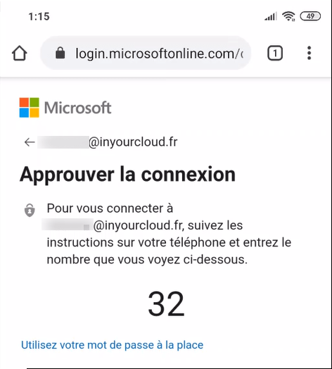 Number has present on the console  azure ad