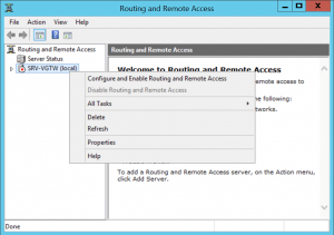 Configure Routing and Remote Access.