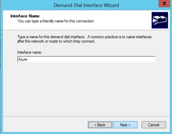 Add new Azure interface