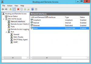 Interface has been present on Routing and Remote Access