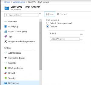 Configure DNS for Virtual Network Azure