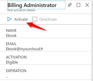 Activate billing administrator