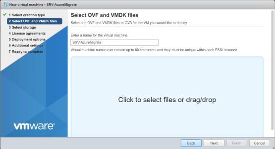 Select OVF file
