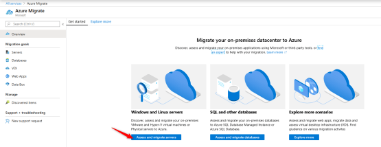 Azure Migrate - Create Azure Migrate project