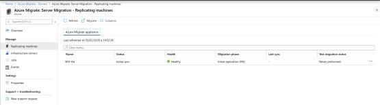 Azure Migrate 6 Verify Replicate