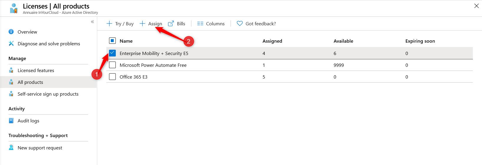 Implement AutoPilot - Access the licence panel