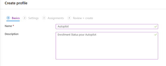 Create new Enrollment Status