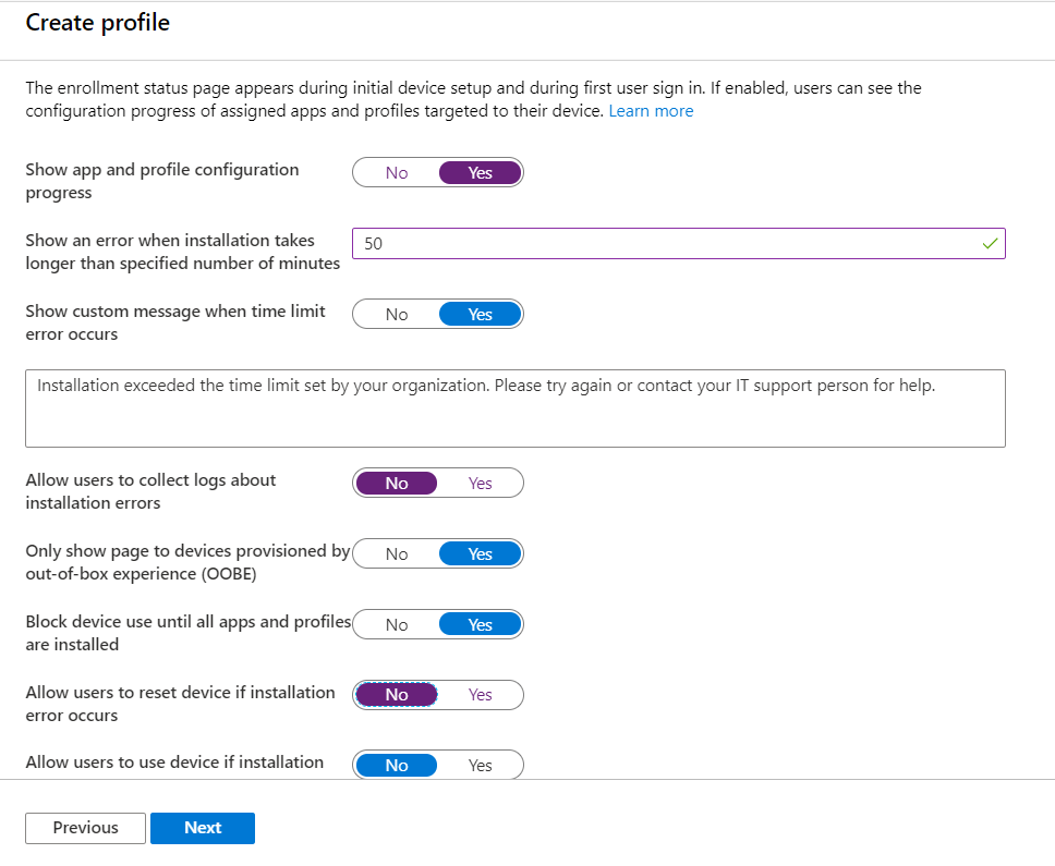 Modify parameter on Enrollment Status