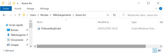 Download script Azure Arc