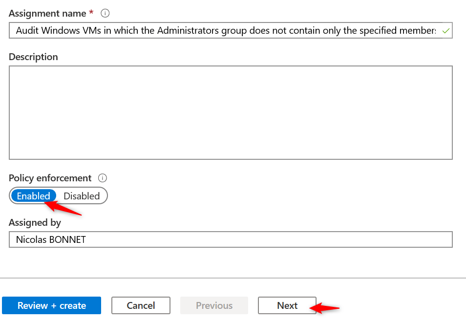 Configure Initiative Azure ARC