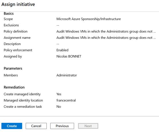 Create Initiative Azure ARC