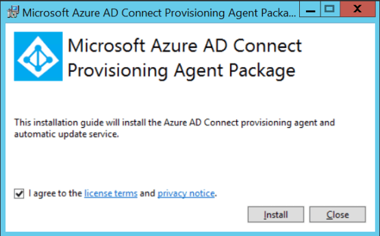 Cloud Provisionning - Install agent