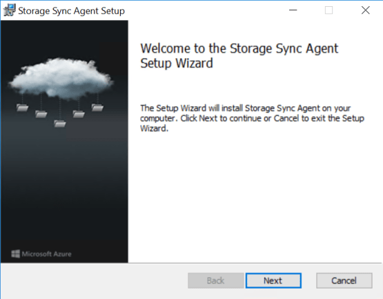 Install agent for Azure File Sync
