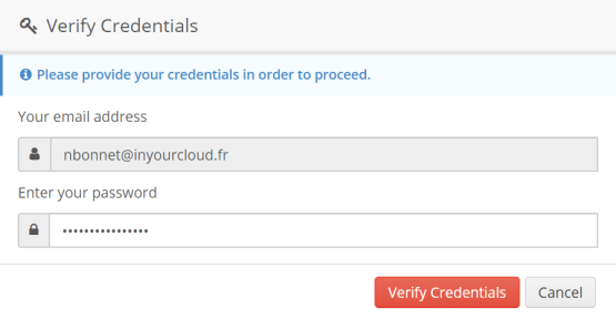 Enter Credential Offcie 365