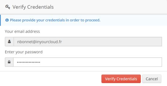 Enter Credential Offcie 365